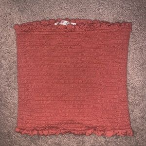 Coral tube top